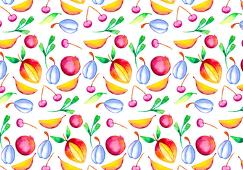 Vector Watercolor Fruit Illustration - бесплатный vector #404063
