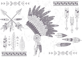 Boho Native Vector Set - vector gratuit #404083
