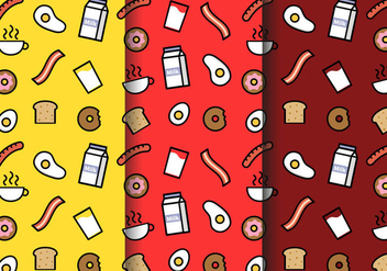 Free Breakfast Pattern Vector - Free vector #404133