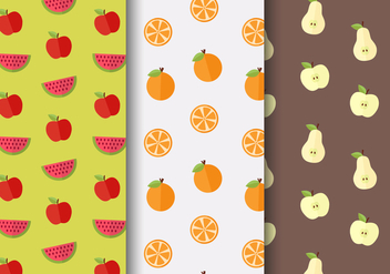 Free Fruit Pattern Vector - vector gratuit #404143