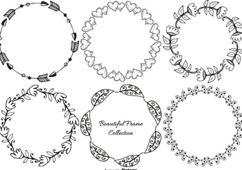 Hand Drawn Decorative Frame Collection - Kostenloses vector #404163