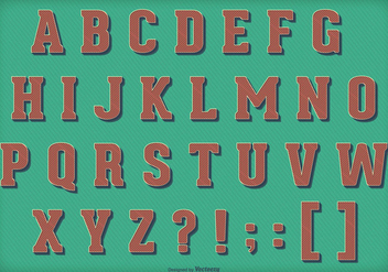 Retro Vintage Vector Alphabet - бесплатный vector #404173
