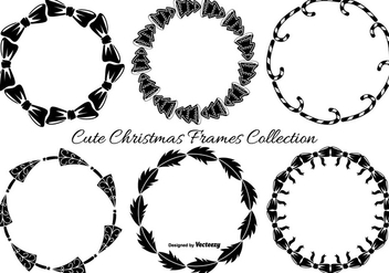 Cute Hand Drawn Christmas Frames - vector gratuit #404203