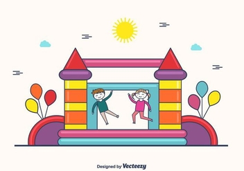 Free Bounce House Vector - бесплатный vector #404303