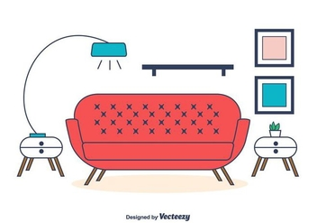 Living Room Vector - vector gratuit #404323