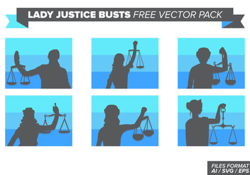 Lady Justice Busts Free Vector Pack - бесплатный vector #404383