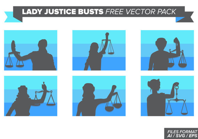 Lady Justice Busts Free Vector Pack - Free vector #404383