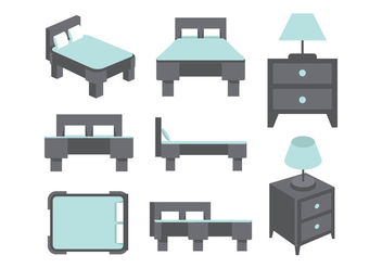 Mattress vectors - vector #404433 gratis