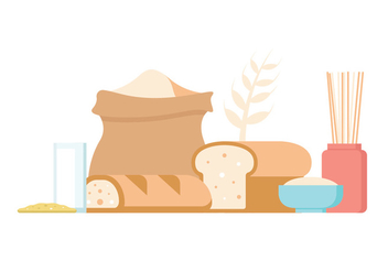 Oats Food Vector Icons - vector #404443 gratis