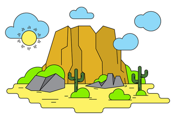 Grand Canyon Vector Illustration - Free vector #404513