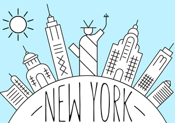 Free New York Illustration - бесплатный vector #404523