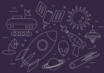 Free Space Icons - vector #404533 gratis