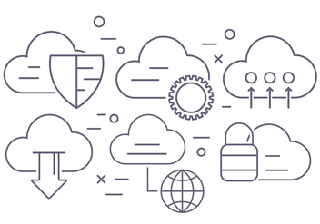 Cloud Computing Vector Icons - vector #404573 gratis