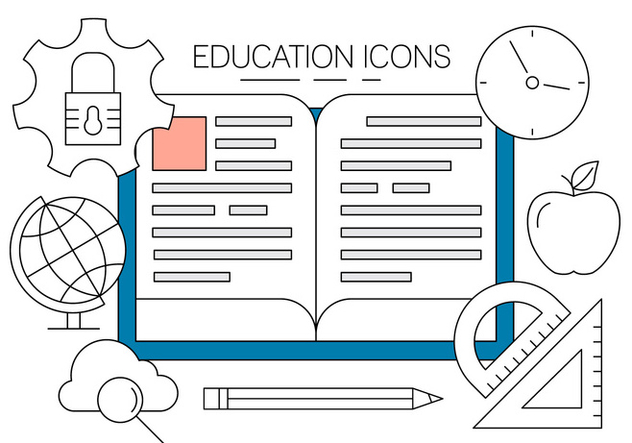 Free Education Icons - vector gratuit #404593