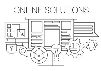 Online Solution Vector Illustration - Free vector #404643