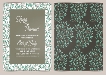Vector Wedding Invitation - бесплатный vector #404653
