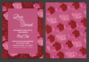 Vector Wedding Invite - vector gratuit #404673