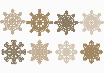 Vector Snowflakes Set - Free vector #404703