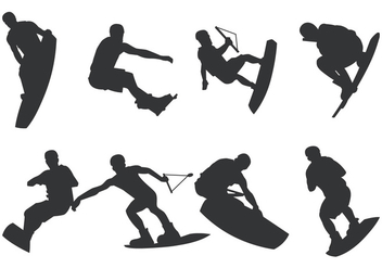 Wakeboarding Silhouette - vector gratuit #404733