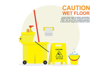 Wet Floor Illustration - vector #404743 gratis