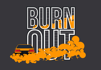 AE86 Car Drifting and Burnout Illustration - Kostenloses vector #404763