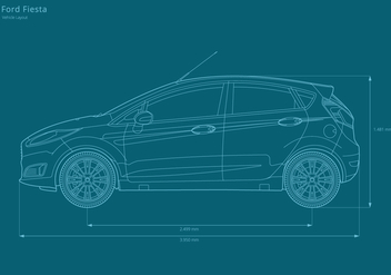 Ford Fiesta Vehicle Layout - бесплатный vector #404773