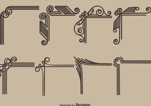 Vector Vintage Style Corners - Free vector #404883
