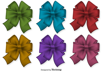 Realistic Vector Ribbons - Free vector #404903