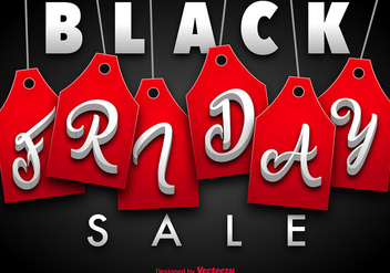 Black Friday Vector Template - vector #404923 gratis