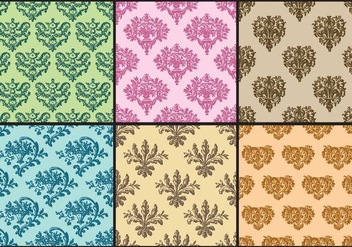Doutone Toile Patterns - Kostenloses vector #405003