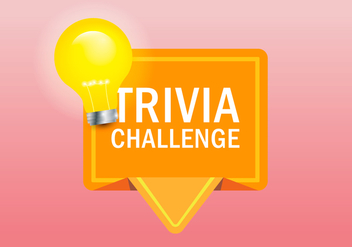 Trivia Quiz Logo Illustration - Free vector #405033