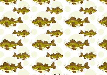 Green Walleye Seamless Pattern - бесплатный vector #405063