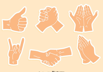 Arm Gesture Sticker Vector - vector gratuit #405073