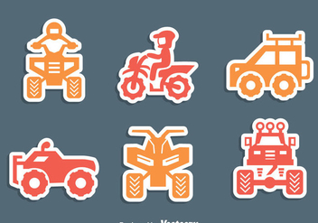 Offroad Vehicle Icons Vector - Free vector #405093