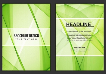 Free Vector Wavy Business Brochure - Free vector #405193