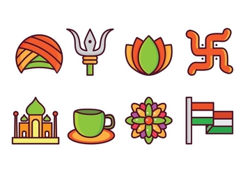 Free India Icon Set - Kostenloses vector #405383
