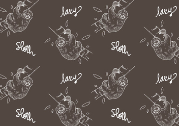 Free Sloth Seamless Pattern Vector Illustration - vector #405393 gratis