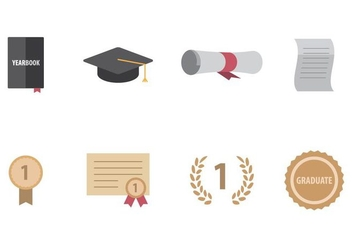 Graduation Icon - vector #405503 gratis
