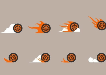Burnout Wheels Icon - Free vector #405523