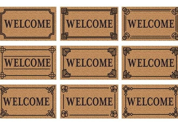 Free Welcome Door Mat Vector - бесплатный vector #405583