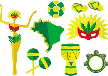 Free Brazil Element Vector Illustration - бесплатный vector #405603