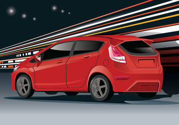 Ford Fiesta Vector with Limbo Background - vector #405643 gratis