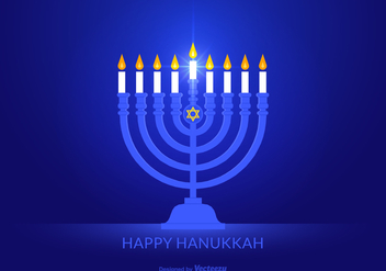 Free Happy Hanukkah Vector Background - Kostenloses vector #405683