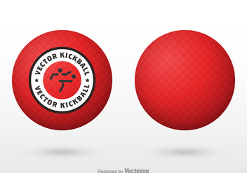 Free Vector Red Kickball - Free vector #405713