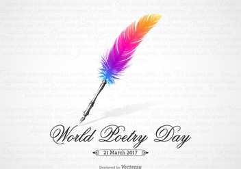 Free World Poetry Day Vector Design - Kostenloses vector #405743