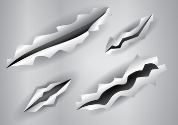 Free Metal Tear Vector Illustration - Free vector #405773