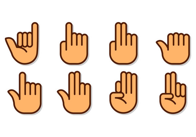 Free Hand Gestures and Sign Icon Vector - vector #405793 gratis