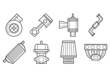 Free Turbo kit Icon Vector - Free vector #405813