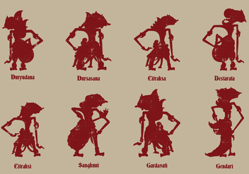 Javanese Puppet Culture - Free vector #405863