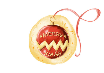 Free Xmas Ball Watercolor Vector - Free vector #405893